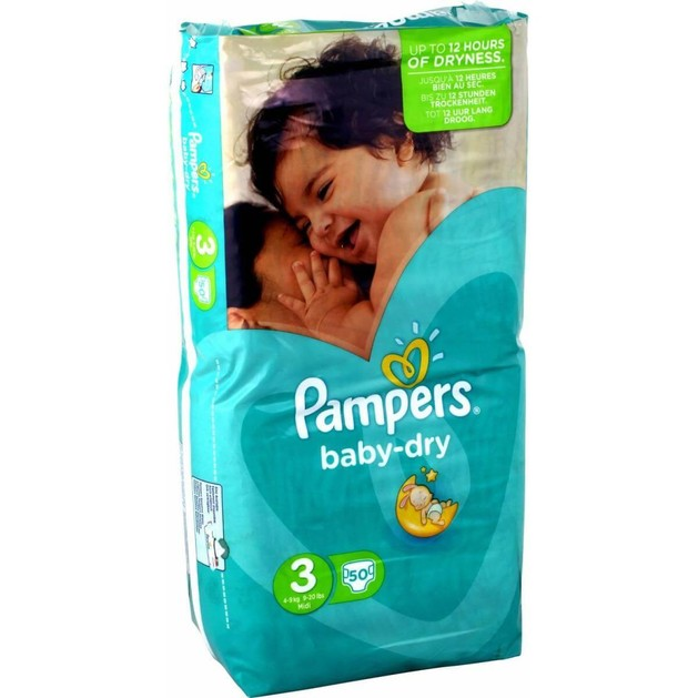 Pampers Baby Dry Midi No3 (4-9kg), 50 πάνες