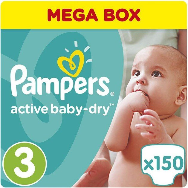 Pampers Active Baby Dry Mega Box No3 (5-9kg) 150 πάνες