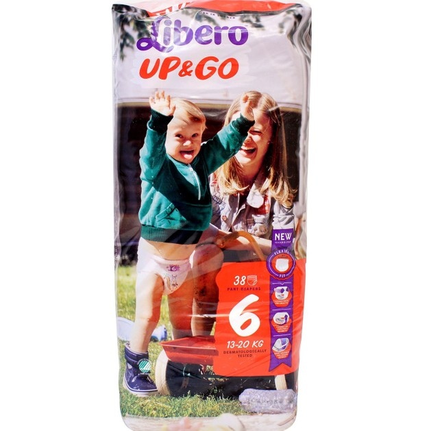 Libero UP&Go Πάνα Βρακάκι για Ελευθερία Κινήσεων No6 13-20kg 38τμχ