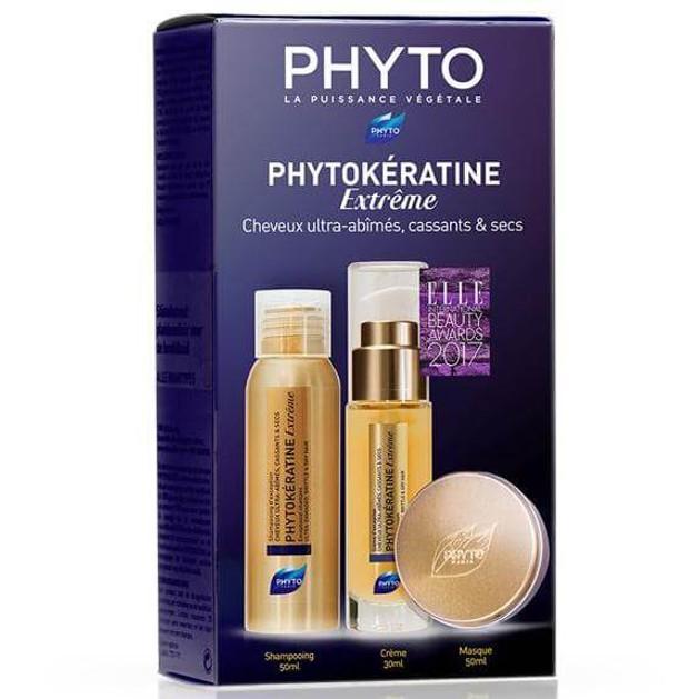 Phyto Πακέτο ΠροσφοράςPhytokeratine Extreme Exceptional Cream 30ml, Shampoo 50ml & Mask 50ml Κατεστραμμένα - Αφυδατωμένα Μαλλιά