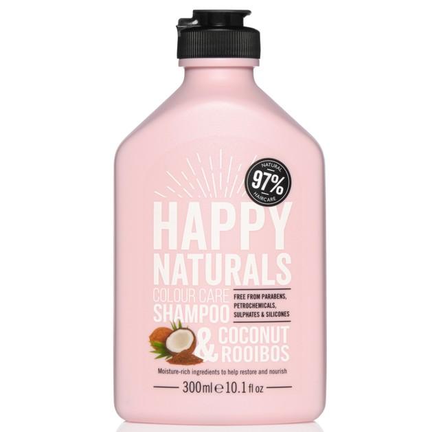 Happy Naturals Colour Care Shampoo Coconut & Rooibos Σαμπουάν για Λάμψη & Θρέψη στα Βαμμένα Μαλλιά 300ml