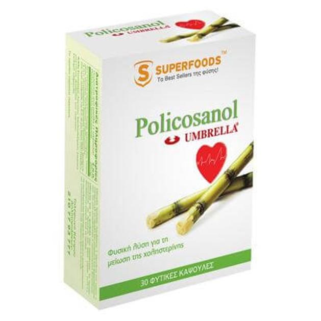 Superfoods  Umbrella Policosanol Super-Αποτελεσματική Δράση Στη Μείωση Της Χοληστερίνης 30caps