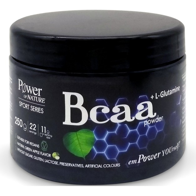 Power Health Sport Series Bcaa & L-Glutamine Powder Ρόφημα σε Σκόνη με Αμινοξέα &  L-γλουταμίνη για Αθλητές 250gr