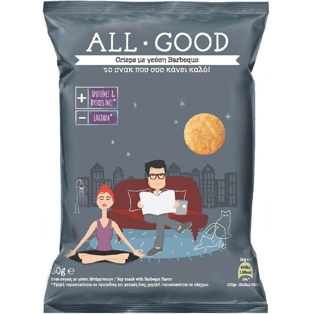 Power Health All Good Crisps Το Σνακ που σου Κάνει Καλό με Γεύση Barbeque 30gr
