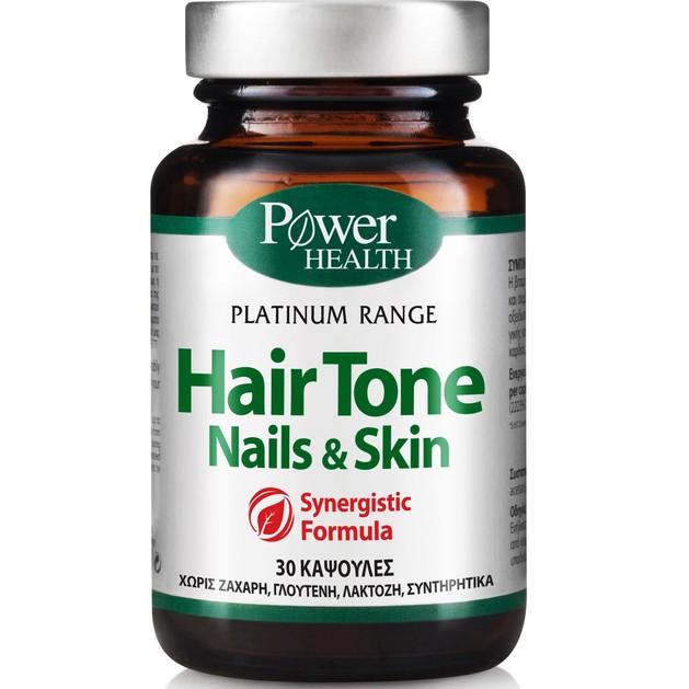 Δώρο Power Health Platinum Hair Tone, Nails & Skin Συμπλήρωμα Διατροφής για Υγιή Μαλλιά, Λαμπερό Δέρμα & Γερά Νύχια 30caps