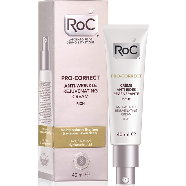 Roc Pro-Correct Anti-Wrinkle Rejuvanating Rich Cream Αντιρυτιδική Αναζωογονητική Κρέμα Πλούσιας Υφής 40ml