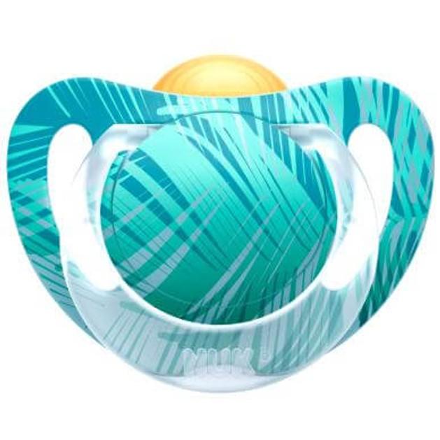 Nuk Genius Color Πιπίλα Καουτσούκ με Κρίκο Χωρίς BPA
