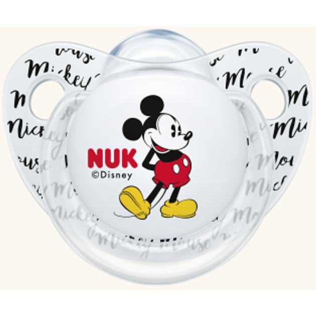Nuk Trendline Disney Mickey Πιπίλα Γκρι Σιλικόνης 0-6m 1 τεμάχιο