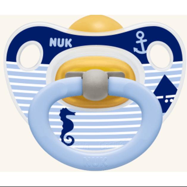 Nuk Classic Happy Kids Πιπίλα απο Καουτσούκ με Κρίκο 1τμχ