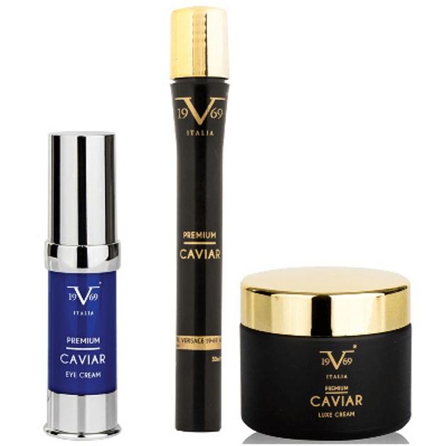 Versace Promo Pack Caviar Eye Cream Αντιρυτιδική Κρέμα Ματιών 15ml & Κρέμα με Κολλαγόνο & Ρόδι 50ml & Premium Caviar Πόσιμο 15ml