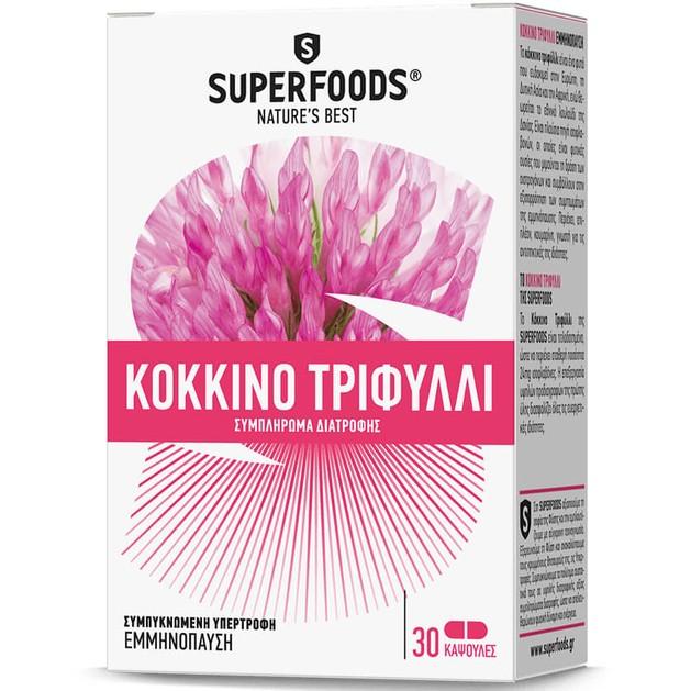 Κόκκινο Τριφύλλι 30 Κάψουλες - Superfoods