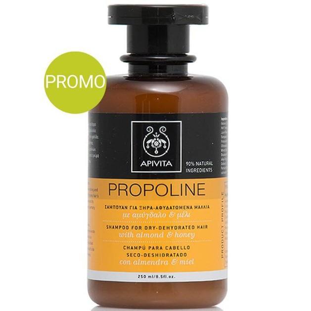 Apivita Propoline Σαμπουάν για Ξηρά-Αφυδατωμένα Μαλλιά με Αμυγδαλιά & Μέλι Προσφορά -20% 250ml
