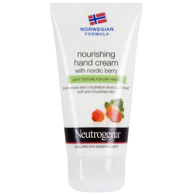 Neutrogena Hand Cream With Nordic Berry Υπερ-Ενυδατική Κρέμα Χεριών με Nordic Berry και Ελαφριά Υφή Προσφορά -20% 75ml