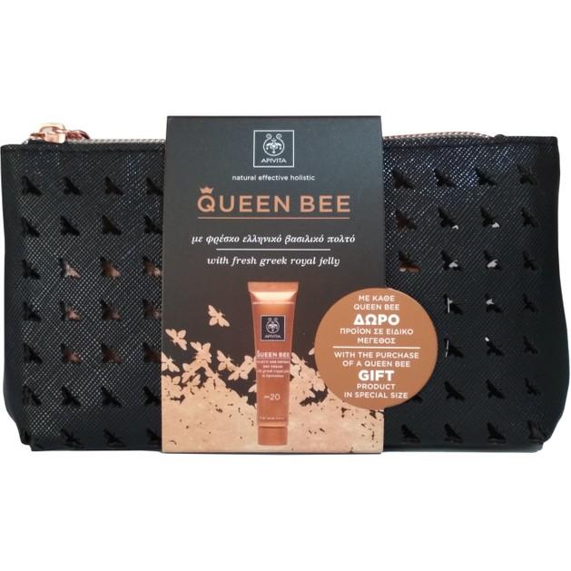 Δώρο Apivita Queen Bee Day Cream Spf20, 15ml, Night Cream 2ml, Eye Cream 1.5ml & Νεσεσέρ