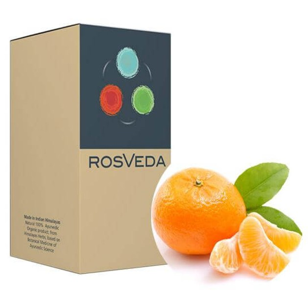 RosVeda Pure Essential Oil Mandarin Peel, 100% Φυτική Σύνθεση, Αιθέριο Έλαιο Μανταρίνι 10ml