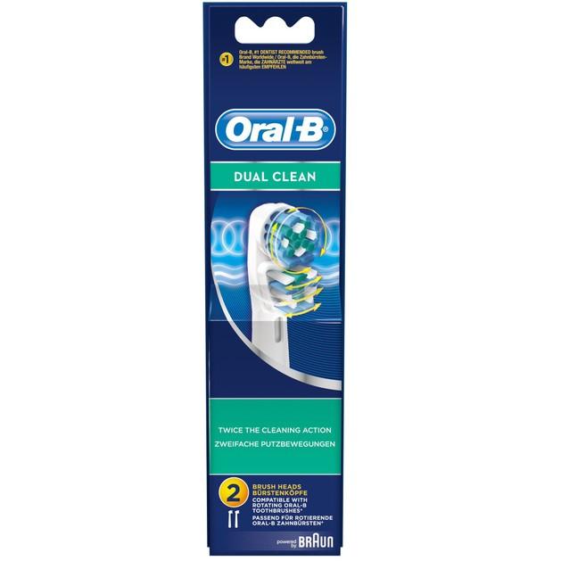 Oral-B Dual Clean Ανταλλακτικές Κεφαλές Βουρτσίσματος 2 τεμάχια