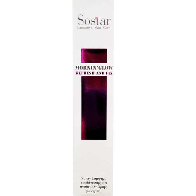 Sostar Mornin\' Glow Refresh and Fix Σπρέι Προσώπου Ενυδάτωσης και Σταθεροποίησης Μακιγιάζ 125ml