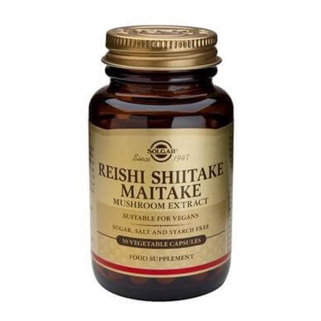 Solgar Reishi Shitake Maitake Mushroom extract 50 veg.caps
