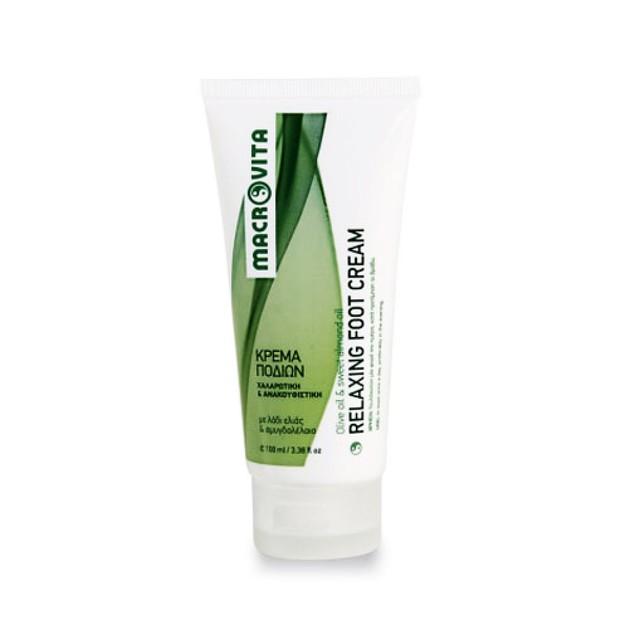 Macrovita Relaxing Foot Cream Χαλαρωτική & Ανακουφιστική Κρέμα Ποδιών με Λάδι Ελιάς & Αμυγδαλέλαιο 100ml