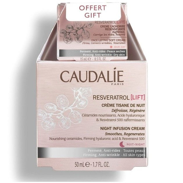 Caudalie Promo Resveratrol Lift Night Infusion Cream 50ml & Face Lifting Soft Day Cream 15ml