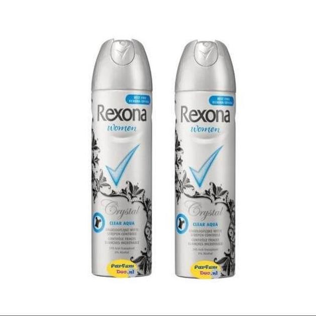 Rexona Spray Αποσμητικό Invisible Aqua 2x150ml Πακέτο 1+1