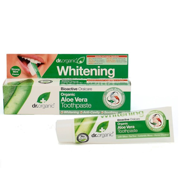 Dr.Organic Organic Aloe Vera Toothpaste (Whitening) 100ml