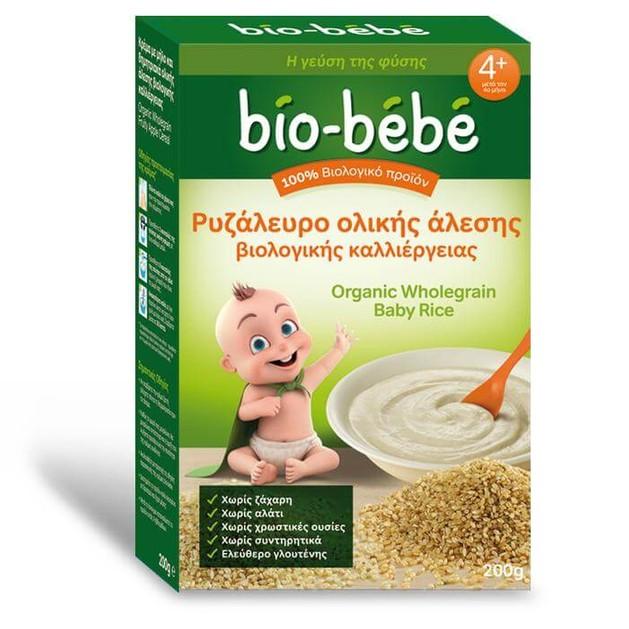 Bio Bebe Ρυζάλευρο ολικής άλεσης βιολογικής καλλιέργειας 200gr