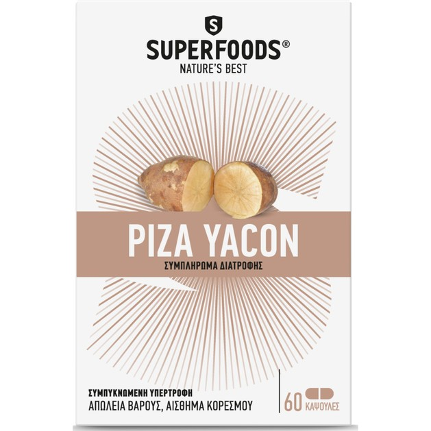 Superfoods Ρίζα Yacon 60 Κάψουλες