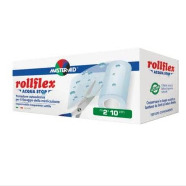 Master Aid Rollflex Acqua Stop Αυτοκόλλητη Διαφανής Μεμβράνη Για Επικάλυψη Και Στερέωση Της Γάζας 10m x 2cm