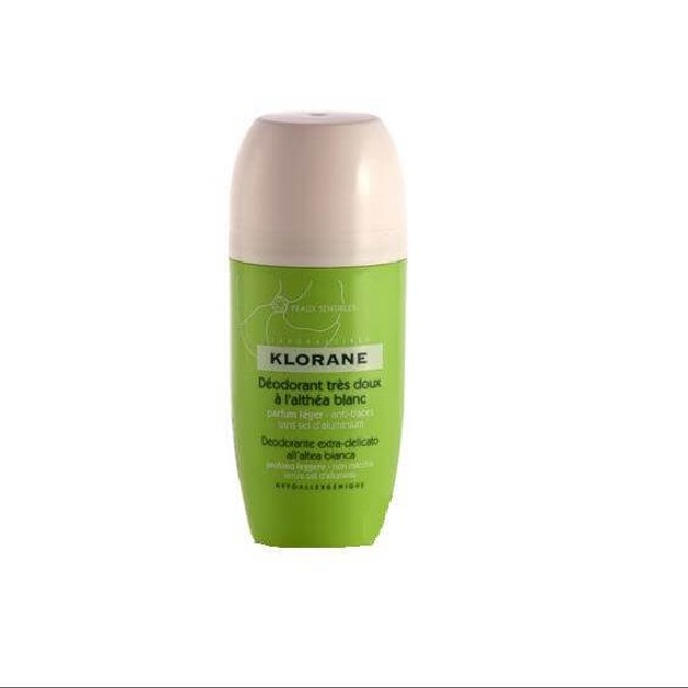 Klorane Deodorant Tres Doux a l\'Althea Blanc 40ml
