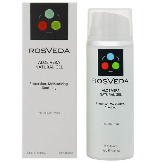 RosVeda Aloe Vera Natural Gel Spf10 100% Φυτική Σύνθεση, Καταπραϋντικό, Ενυδατικό & Προστατευτικό Gel Χεριών 120ml
