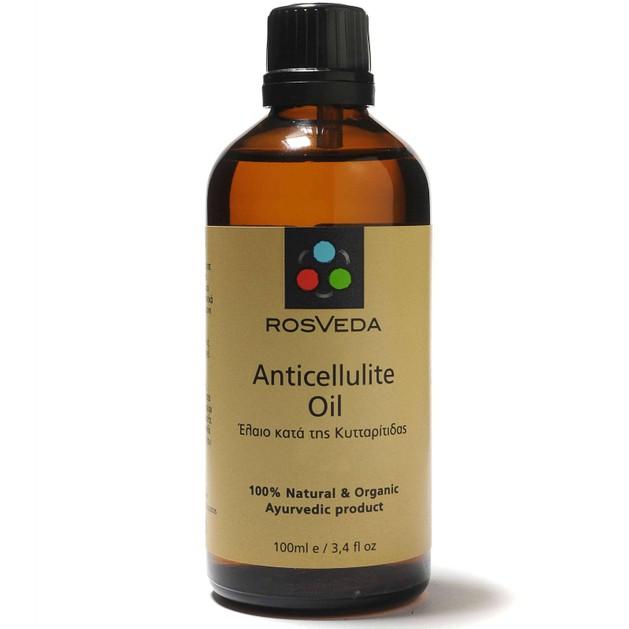 Rosveda Anticellulite Oil 100% Φυτική Σύνθεση, Λάδι Μασάζ Κατά της Κυτταρίτιδας με Αιθέρια Έλαια 100ml