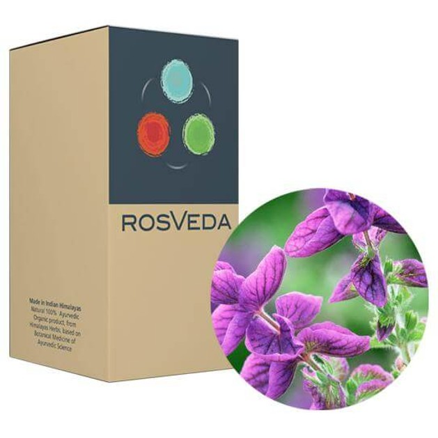 RosVeda Pure Essential Oil Clary Sage, 100% Φυτική Σύνθεση, Αιθέριο Έλαιο Φασκομηλιά 10ml