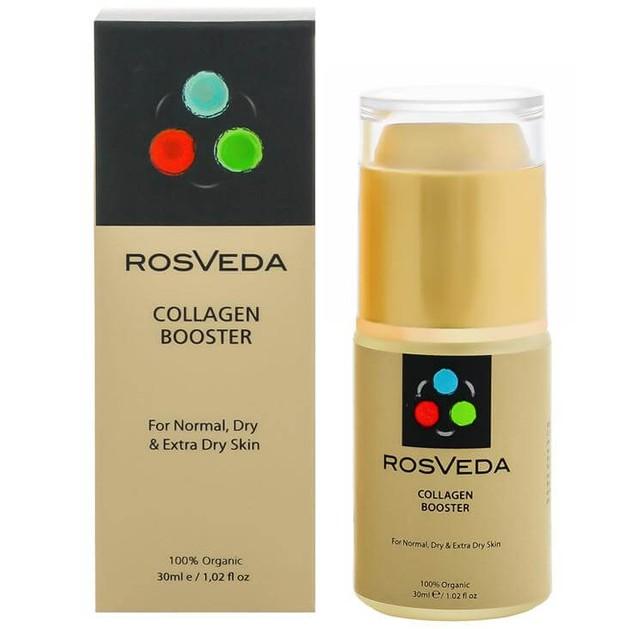RosVeda Collagen Booster 100% Φυτική Σύνθεση Ενισχυτικός Ορός Κολλαγόνου με Ισχυρές Αντιγηραντικές, Αντιρυτιδικές Ιδιότητες 30ml