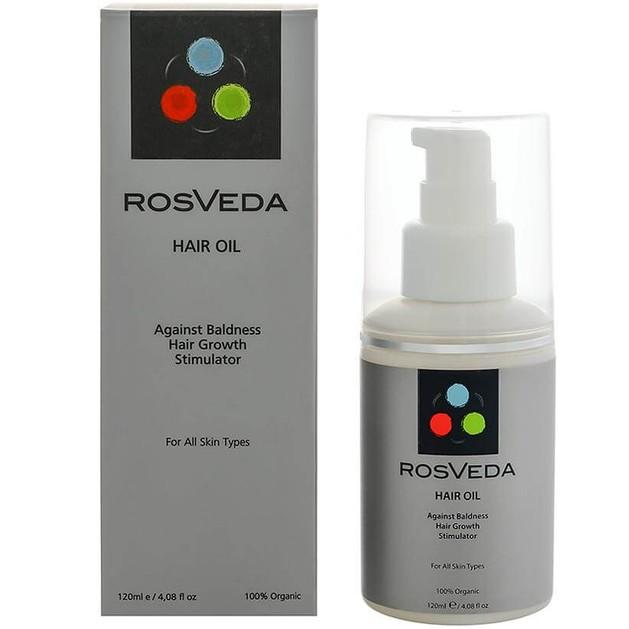RosVeda Hair Oil 100% Φυτική Σύνθεση, Ειδικό Θεραπευτικό Λάδι Κατά της Τριχόπτωσης 120ml