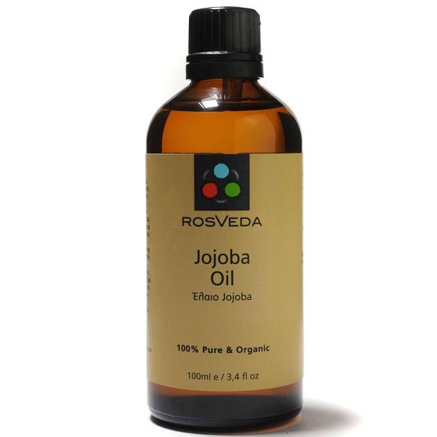 RosVeda Jojoba Oil, 100% Φυτική Σύνθεση, Βιολογικό Έλαιο Jojoba Βάση Ανάμειξης Αιθέριων Ελαίων 100ml