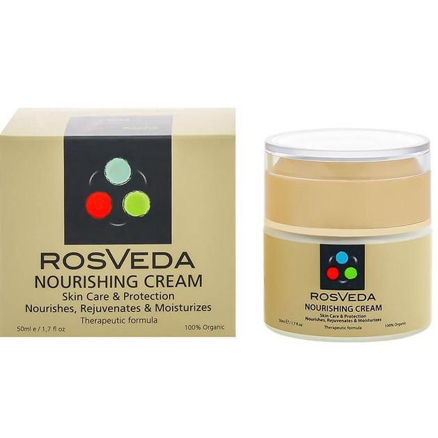 Rosveda Nourishing Cream 100% Φυτική Σύνθεση, Ενυδατική Προστατευτική & Θεραπευτική Κρέμα Ημέρας για Ξηρά Πολύ Ξηρά Δέρματα 50ml