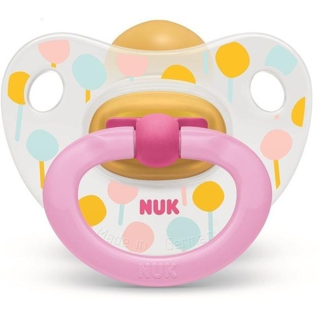 Nuk Classic Happy Kids Πιπίλα απο Καουτσούκ με Κρίκο 0-6 Μηνών 1τμχ