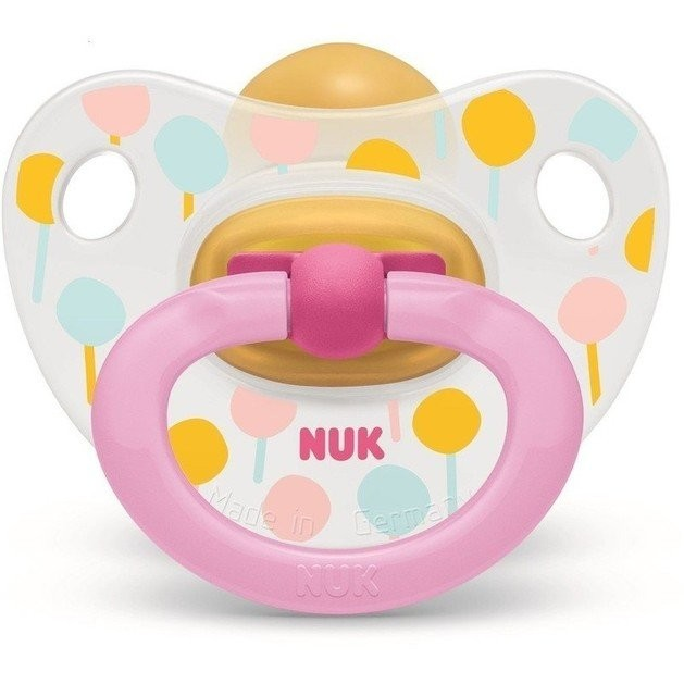 Nuk Classic Happy Kids Πιπίλα Καουτσούκ Μέγεθος 2 (6-18) Μηνών 1 Τεμάχιο