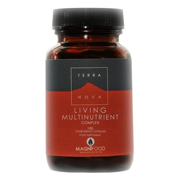 Terranova Living Multinutrient Πλούσια Πολυβιταμίνη με 16 Φρέσκες Ολόκληρες Υπερτροφές 100caps