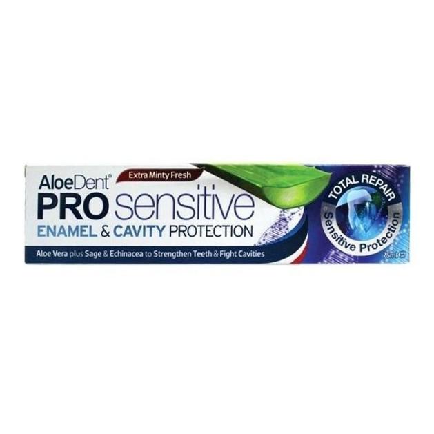 Optima AloeDent Pro Sensitive Enamel & Cavity Protection Οδοντόκρεμα με Φυσικά Άλατα Καλίου & Φθόριο 75ml