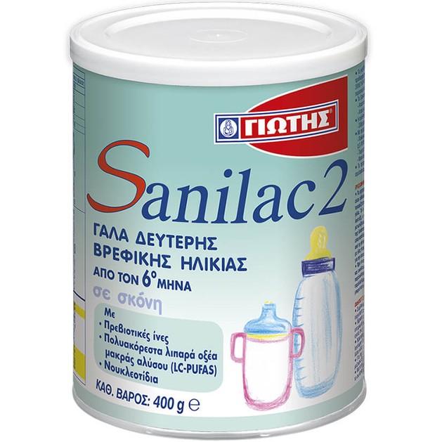 Sanilac 2 Γάλα για Βρέφη από τον 6ο Μήνα 400gr