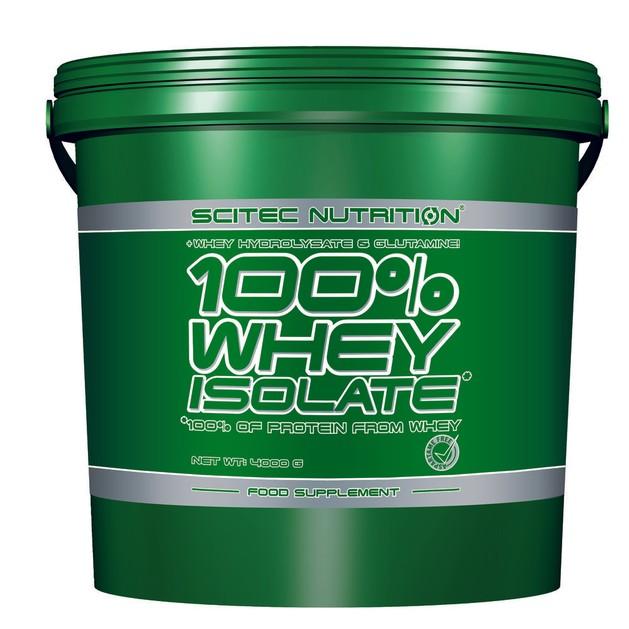 Scitec Nutrition 100% Whey Isolate Φόρμουλα Πρωτεΐνης με 100% Περιεκτικότητα Απομονωμένου Ορού Γάλακτος 4000g