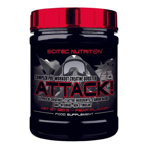 Scitec Nutrition Attack! 2.0 - 0.7 lbs Σύμπλεγμα προ-προπονητικού τονωτικού κρεατίνης (320g) ΗΜΕΡΟΜΗΝΙΑ ΛΗΞΗΣ 12/2016