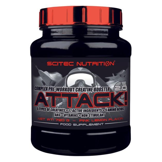 Scitec Nutrition Attack 2.0 Ενισχύσει της Μυική σας Ανάπτυξη και Ανάρρωση 720g ΗΜΕΡΟΜΗΝΙΑ ΛΗΞΗΣ 01/2017