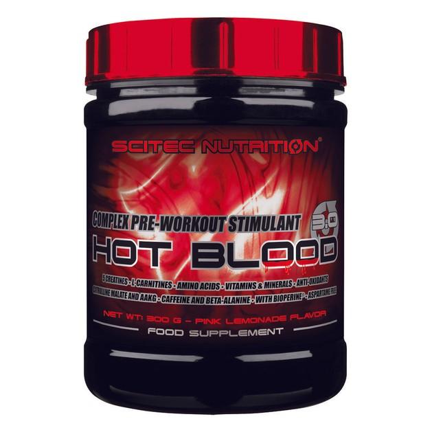 Scitec Nutrition Hot Blood 3.0 - Διεγερτικό Προ-προπονητικό Σύμπλεγμα 300g