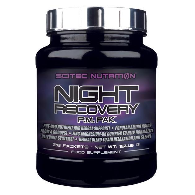 Scitec Nutrition Night Recovery Θρεπτική και φυτική υποστήριξη πριν τον ύπνο 28packs