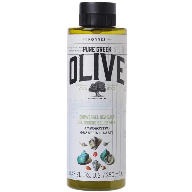Korres Pure Greek Olive Shower Gel Sea Salt 250ml