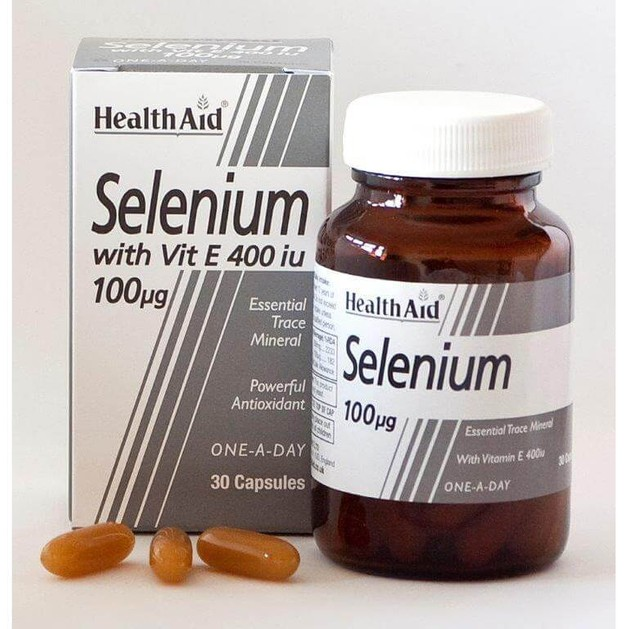 Health Aid Selenium with Vitamin E 400iu 30caps