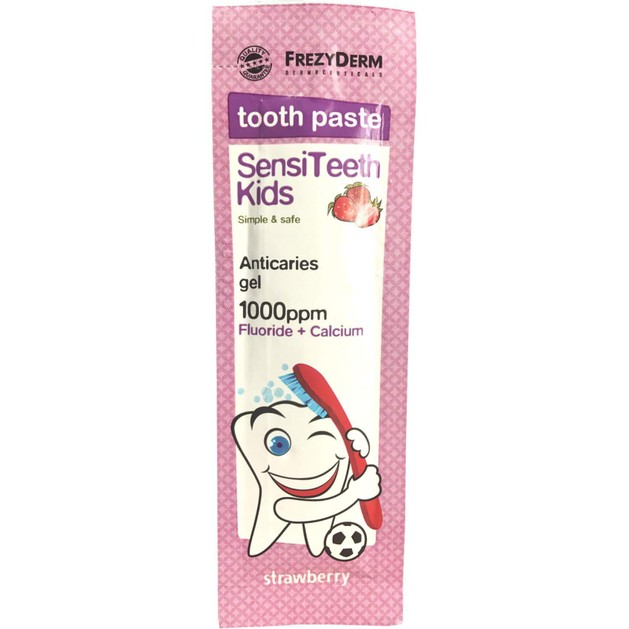 Δώρο Frezyderm SensiTeeth Kids Tooth Paste 1.000ppm Οδοντόκρεμα Κατά της Τερηδόνας για Παιδιά Από 6 Ετών 5gr